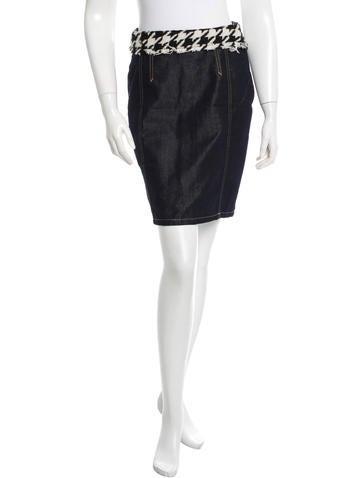 D&G Denim Mini Skirt None
