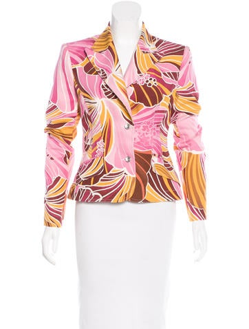Printed Fitted Blazer