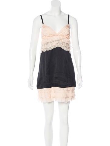 Ruffled Slip Dress
