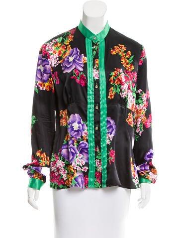 D&G Floral Print Silk Top