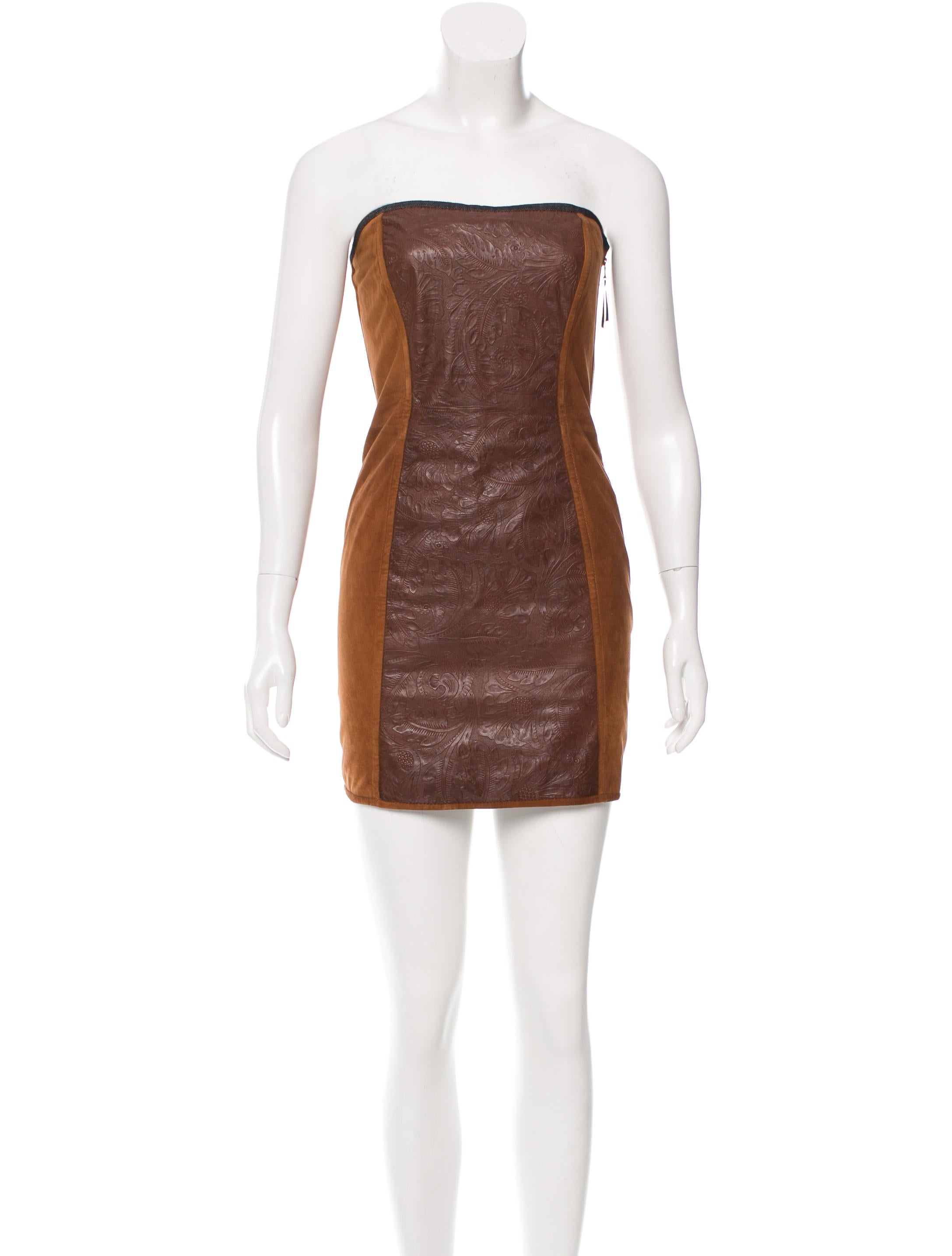 D Amp G Leather Accented Suede Dress Clothing Wdg33762