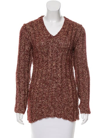 D&G Rib Knit V-Neck Sweater None