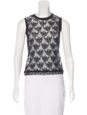 D&G Sleeveless Lace Top None