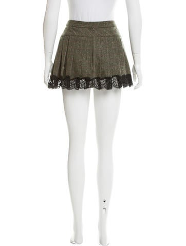 d g pleated tweed skirt clothing wdg34092 the realreal