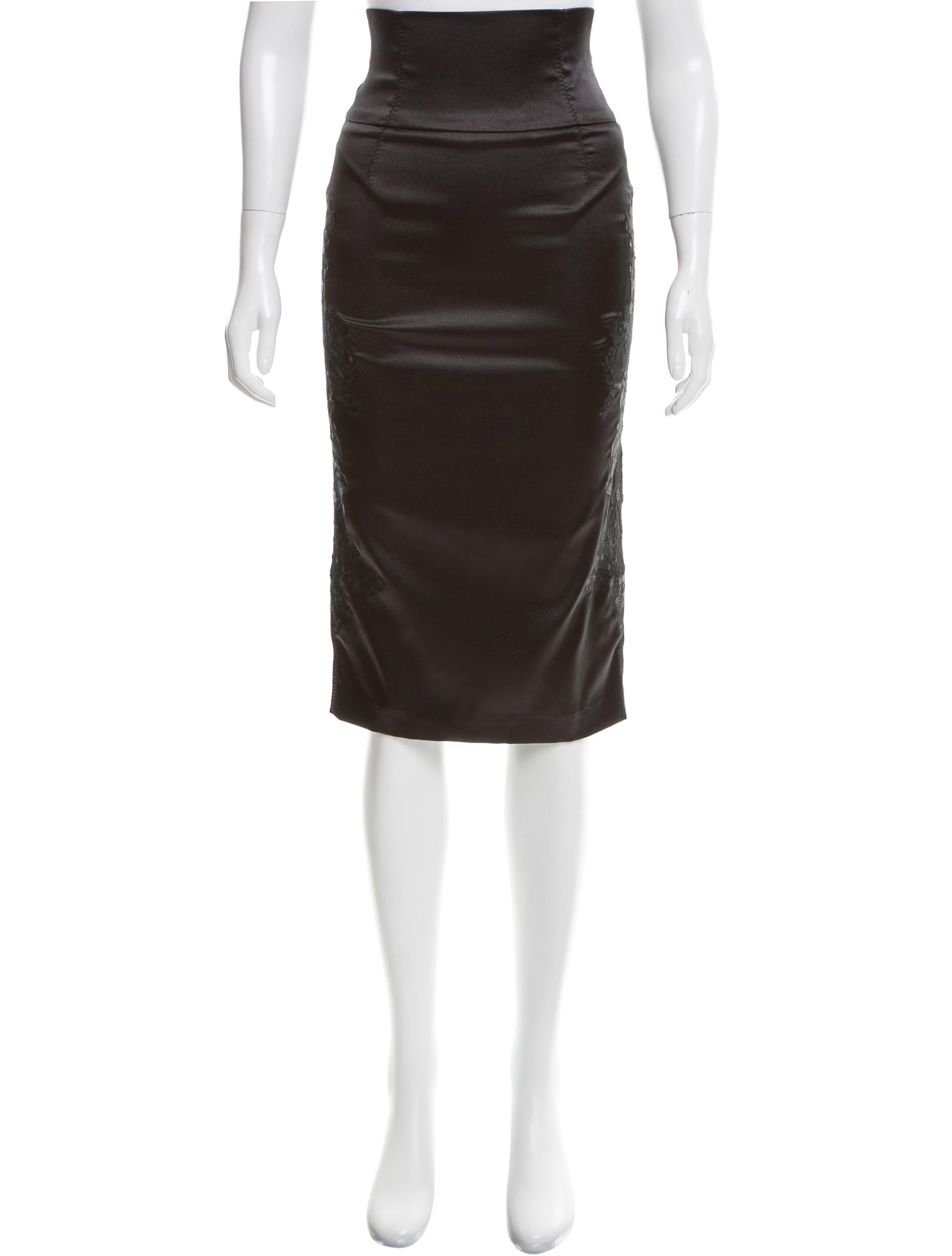 d g embroidered pencil skirt clothing wdg34179 the
