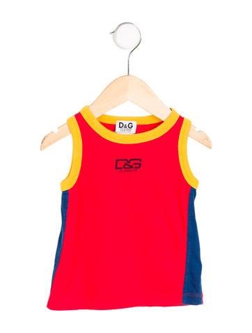 D&G Boys' Sleeveless Scoop Neck Shirt None