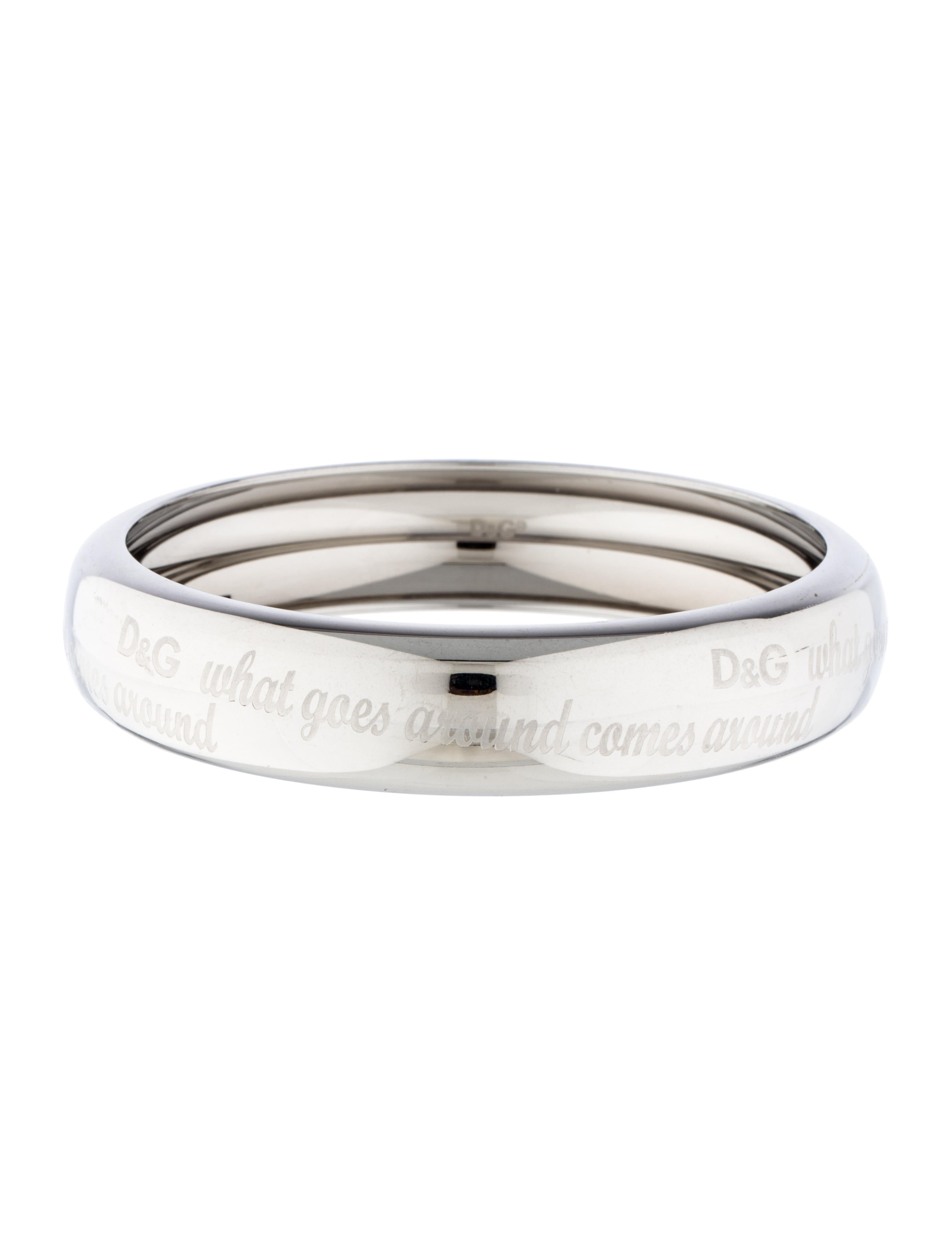 176395be80aa D G What Goes Around Comes Around Bangle - Bracelets - WDG34424 ...