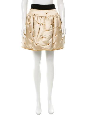 D&G Jewel-Embellished Mini Skirt None