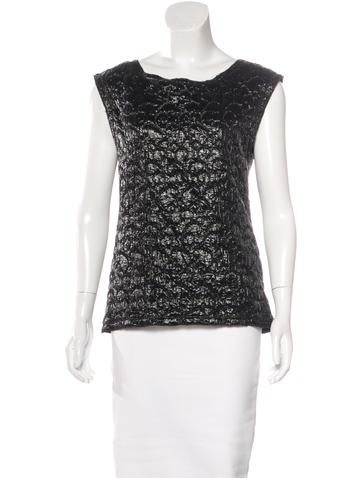 D&G Quilted Wool-Blend Top None