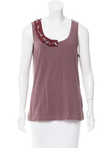 D&G Sleeveless Embellished Top None
