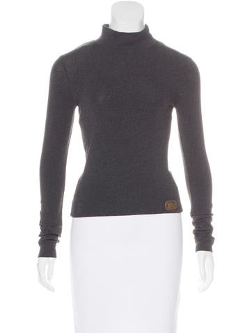 D&G Mock Neck Knit Top None