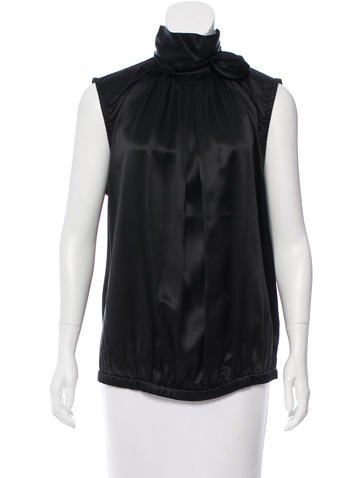 D&G Sleeveless Silk Top None
