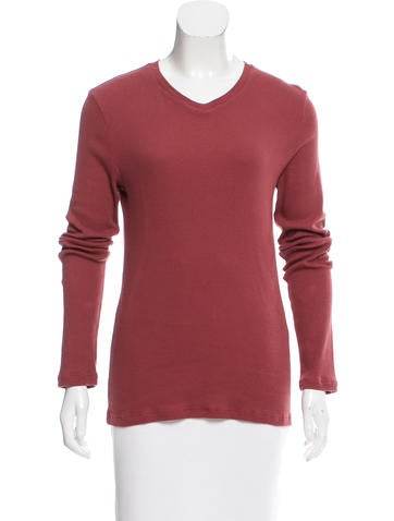 D&G Rib Knit V-Neck Top None
