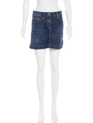 D&G Denim Mini Skirt None