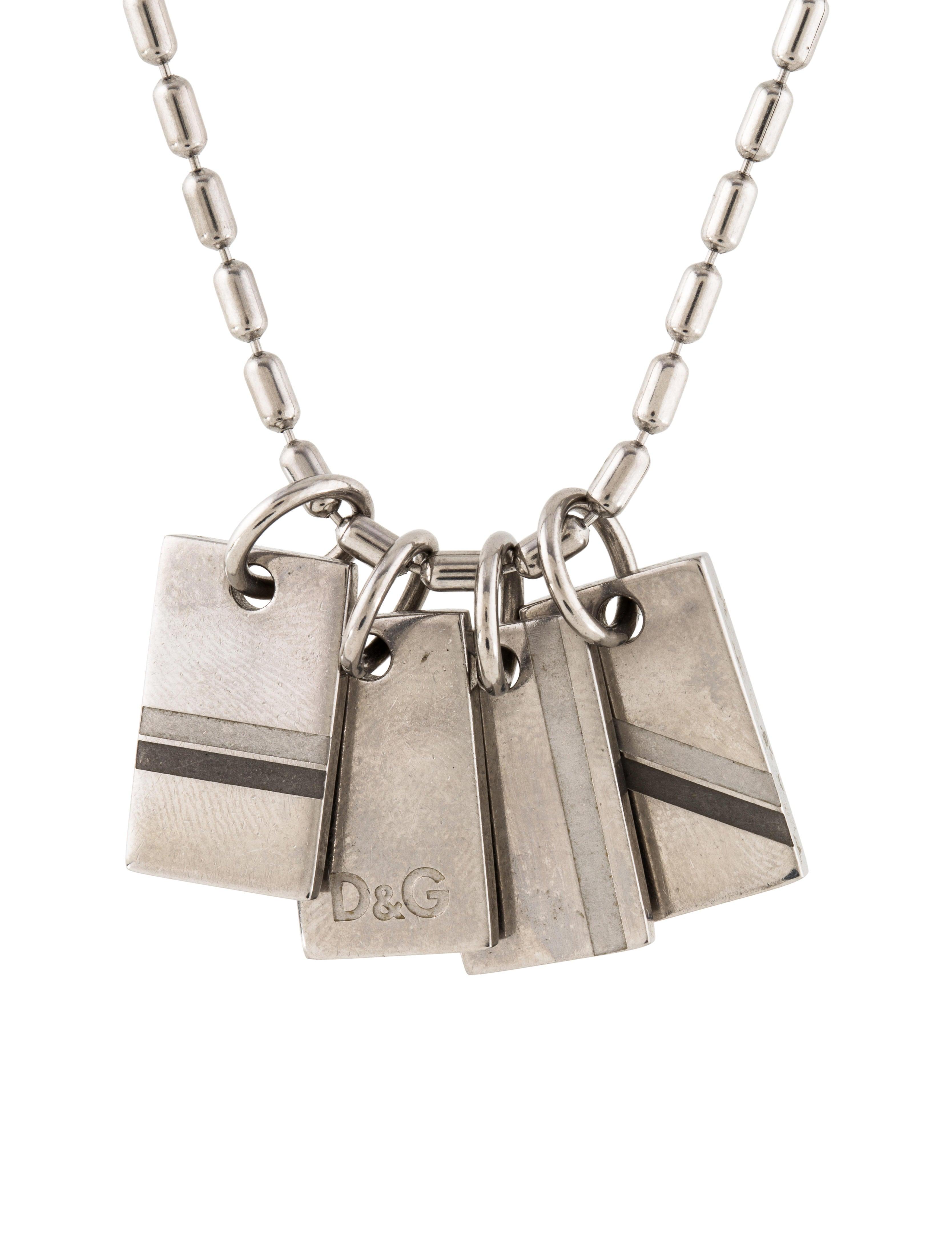 d g four tag pendant necklace necklaces wdg35666 the