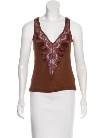 D&G Lace-Trimmed Sleeveless Top None