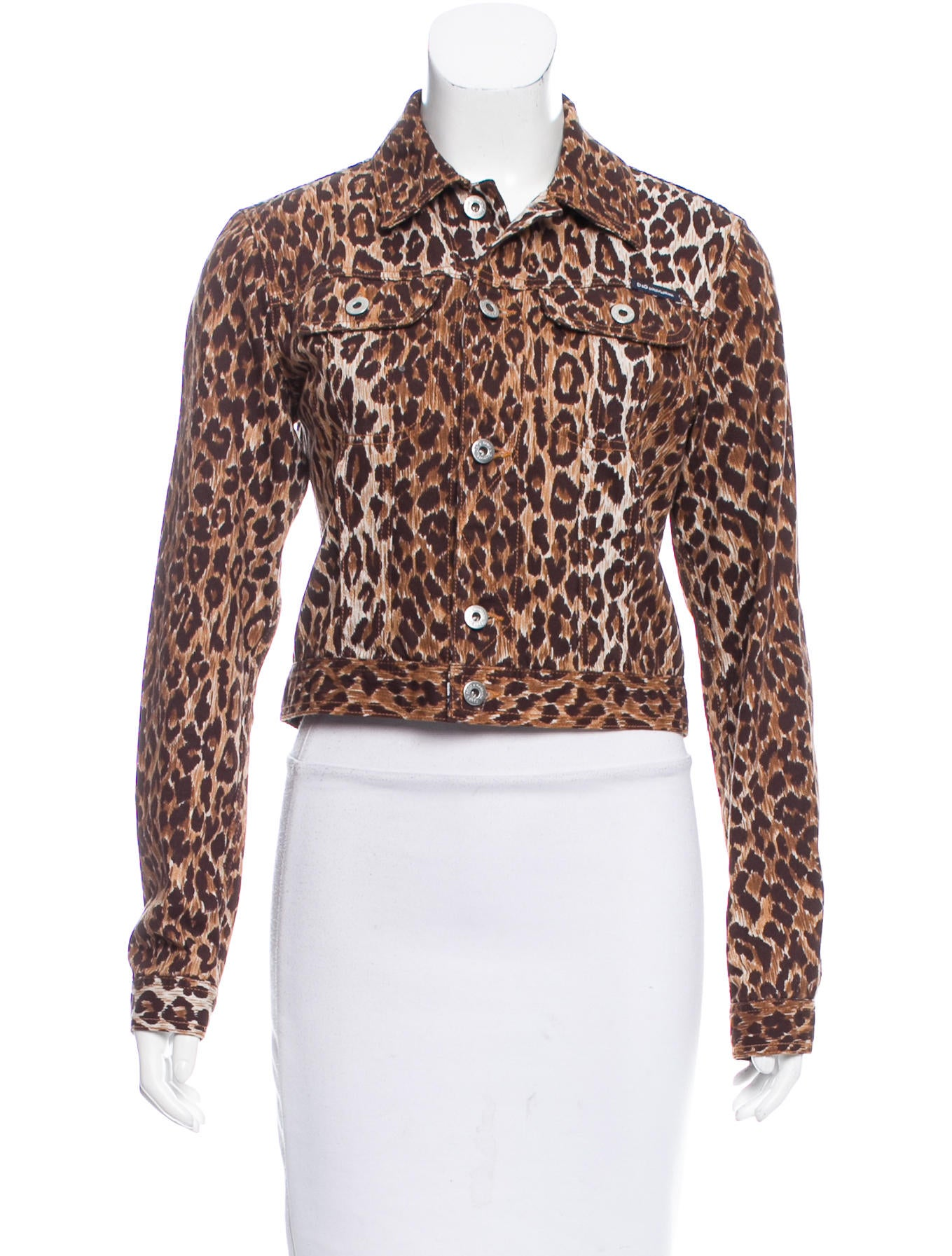 D Amp G Leopard Denim Jacket Clothing Wdg36062 The Realreal