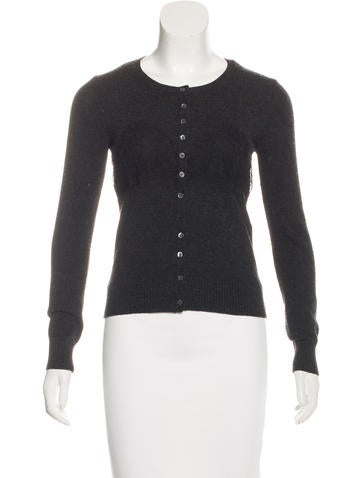 D&G Wool Lace-Accented Cardigan None