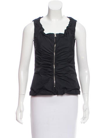 D&G Gathered Sleeveless Top None