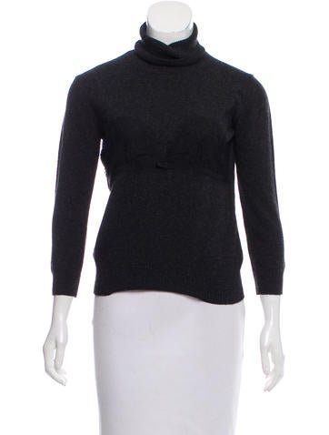 D&G Long Sleeve Turtle-Neck Sweater None