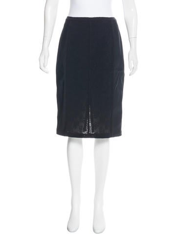 D&G Jacquard-Accented Pencil Skirt None
