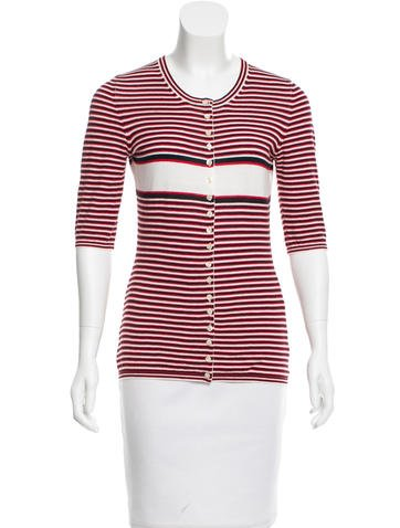 D&G Striped Button-Up Cardigan None
