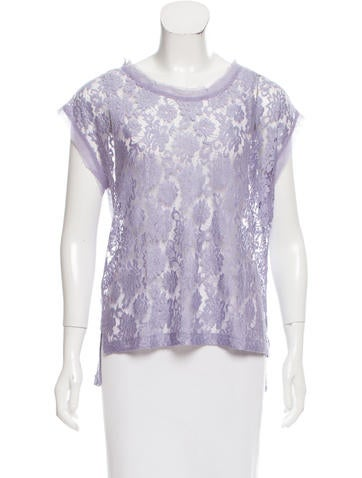 D&G Raw-Edge Lace Top None