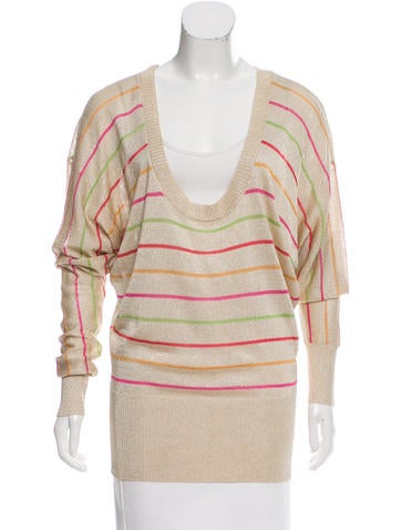 D&G Striped Scoop Neck Sweater None