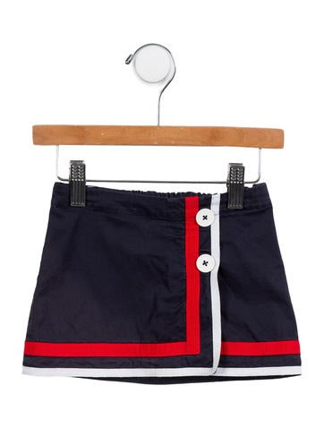 D&G Girls' Logo-Accented Mini Skirt None