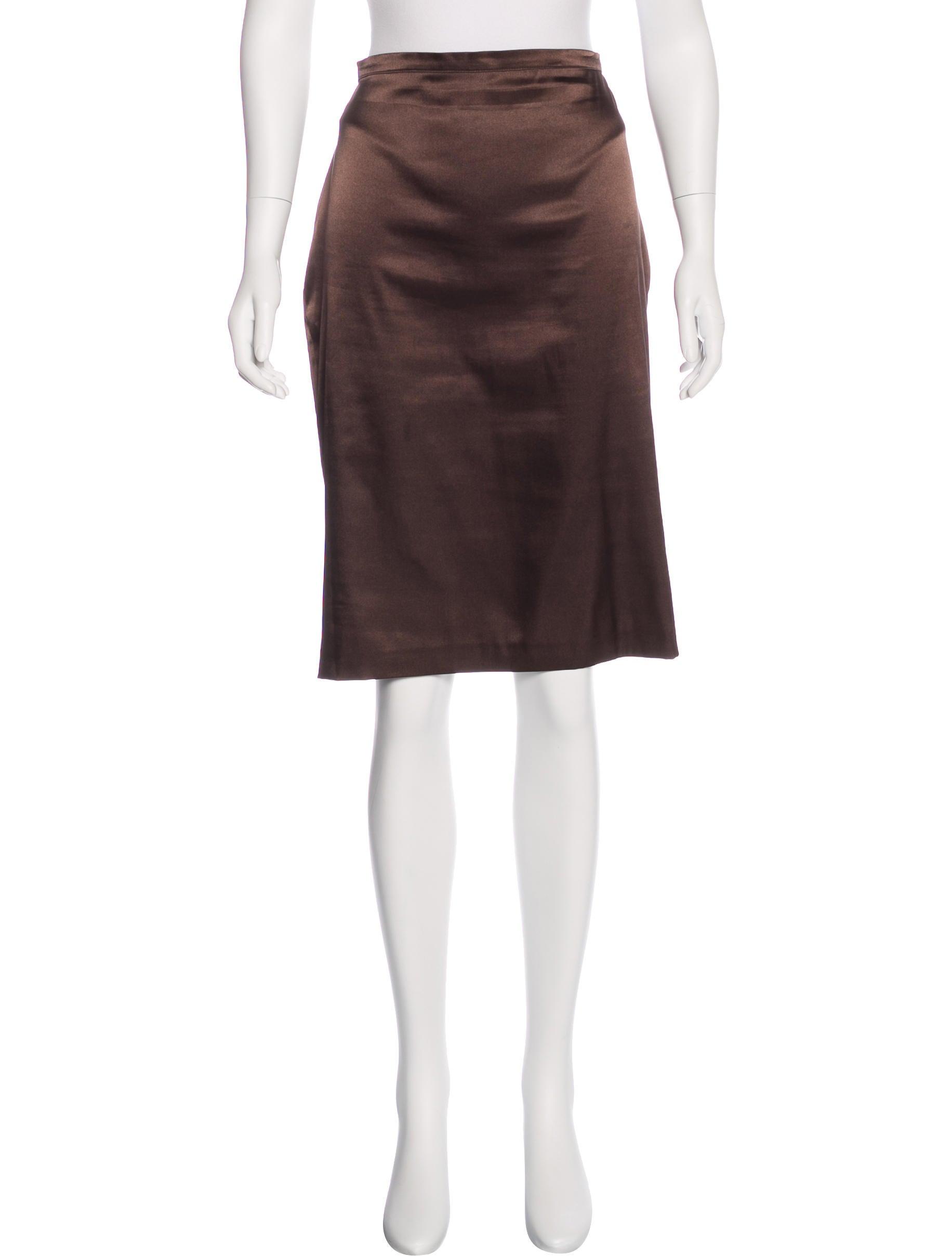 d g satin pencil skirt clothing wdg36455 the realreal