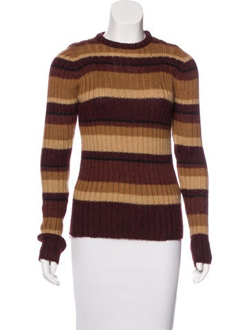 D&G Striped Rib Knit Sweater None