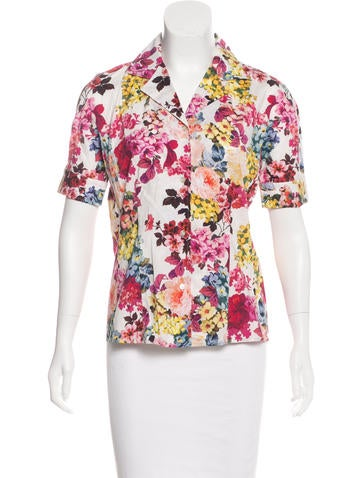D&G Floral Print Button-Up Top None