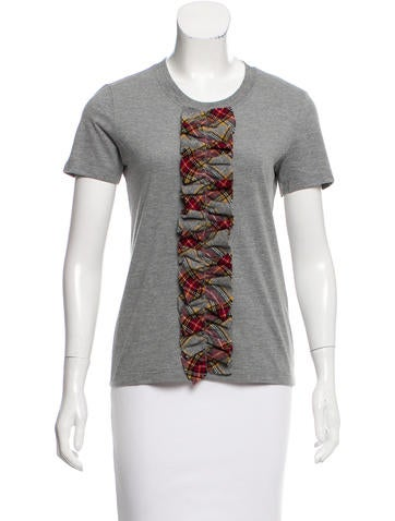 D&G Wool-Accented Short Sleeve Top None