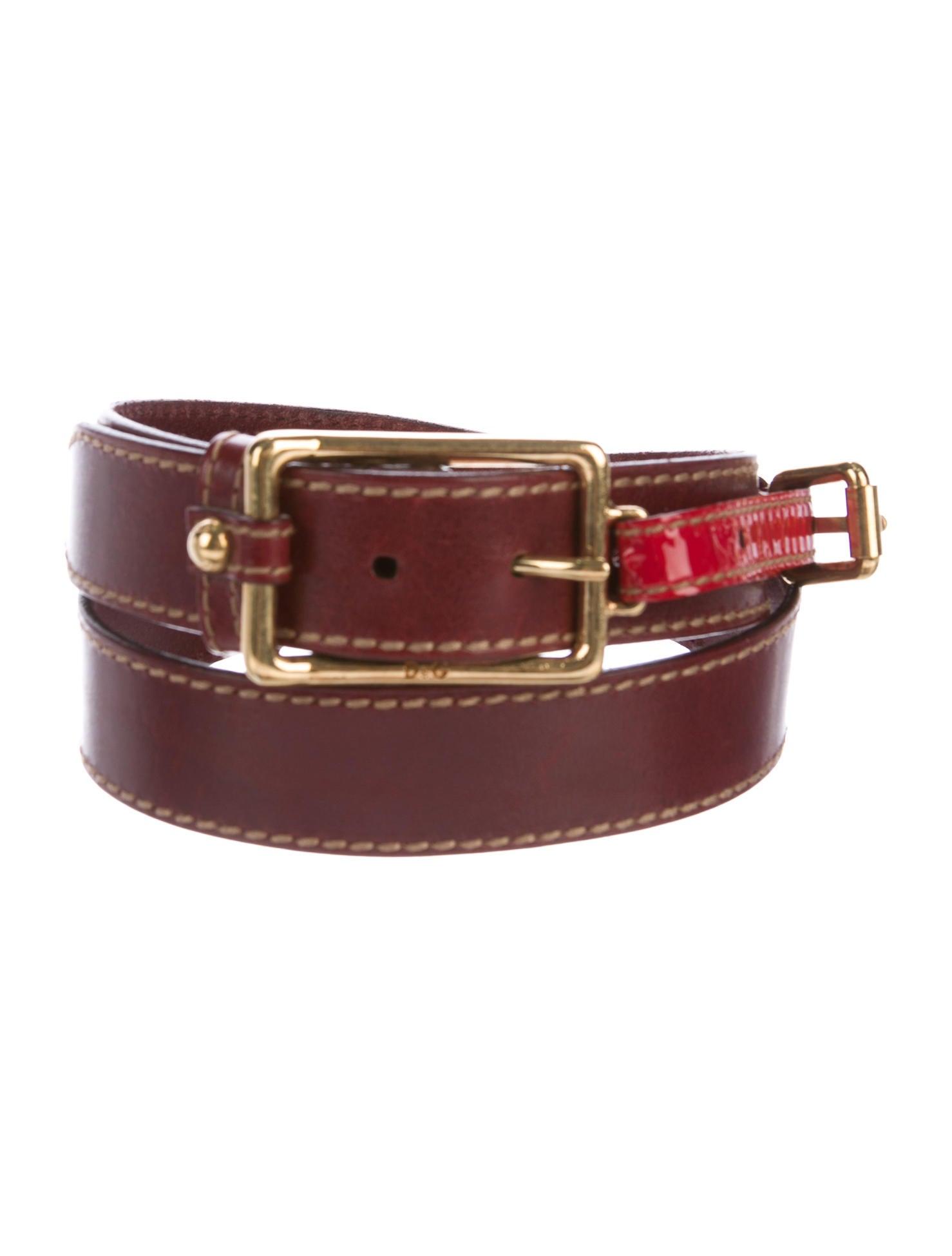 d g leather dual buckle belt accessories wdg36781