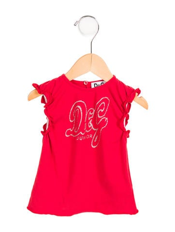 D&G Girls' Embellished Embroidered Top None