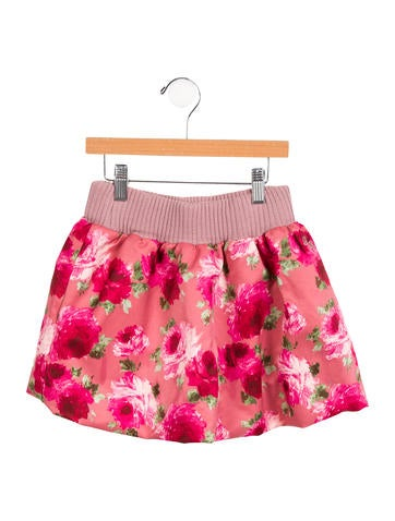 D&G Girls' Floral Print Skirt None