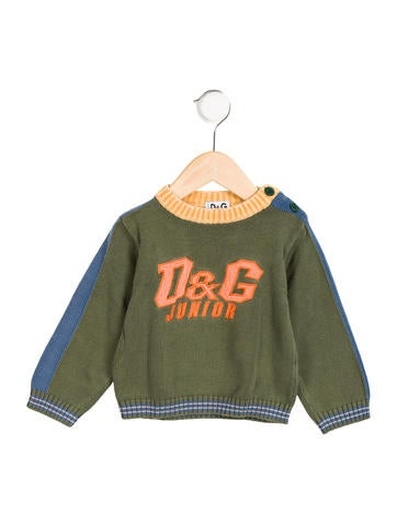 D&G Boys' Logo Colorblock Sweater None