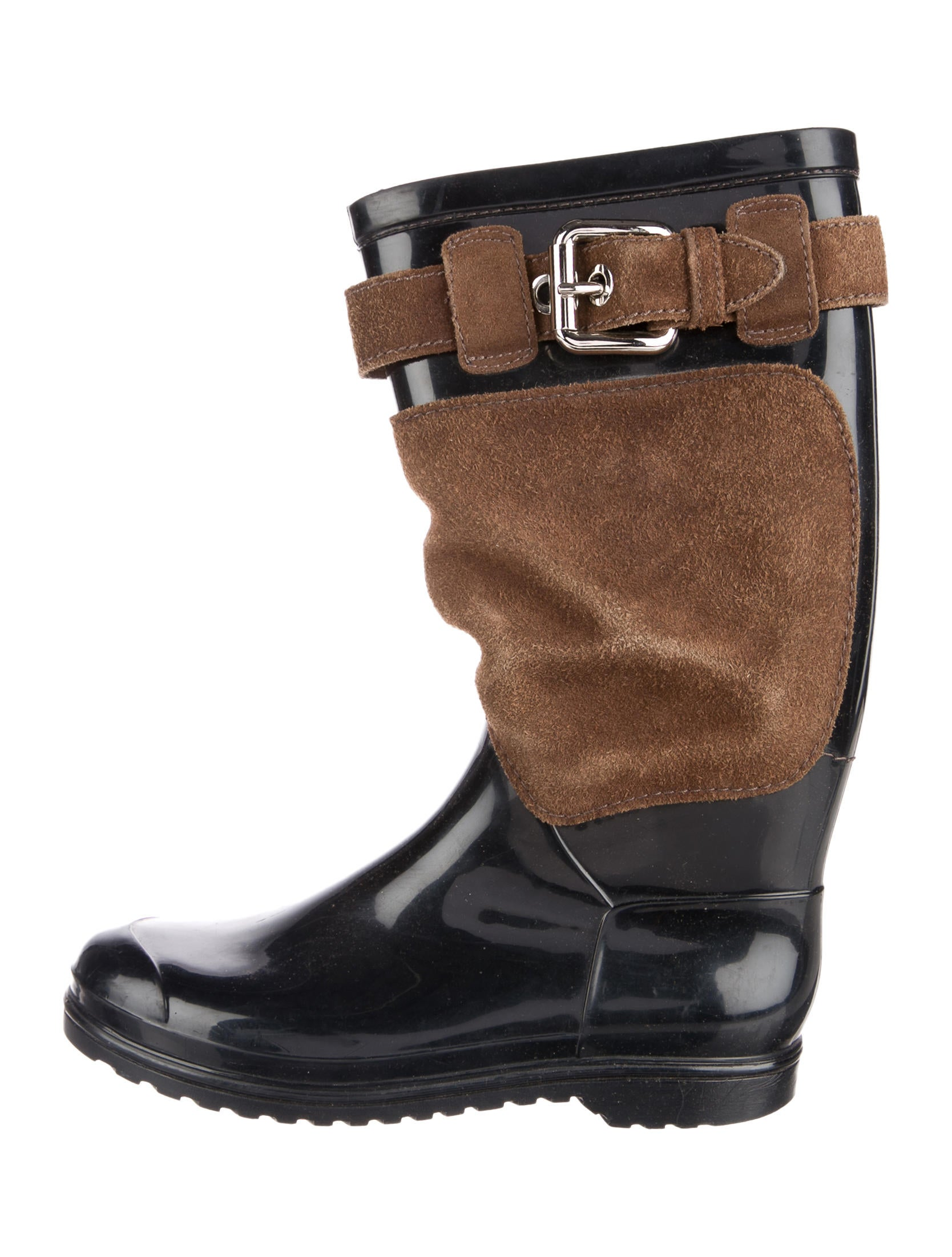 d g rubber suede boots shoes wdg37007 the realreal