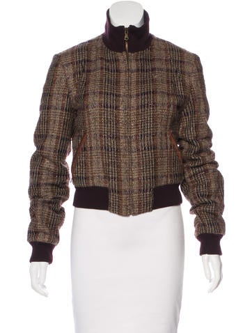 D&G Plaid Wool-Blend Jacket None