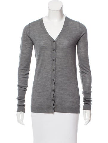 D&G V-Neck Rib Knit Cardigan None
