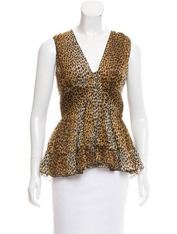 D&G Cheetah Printed Silk Top None