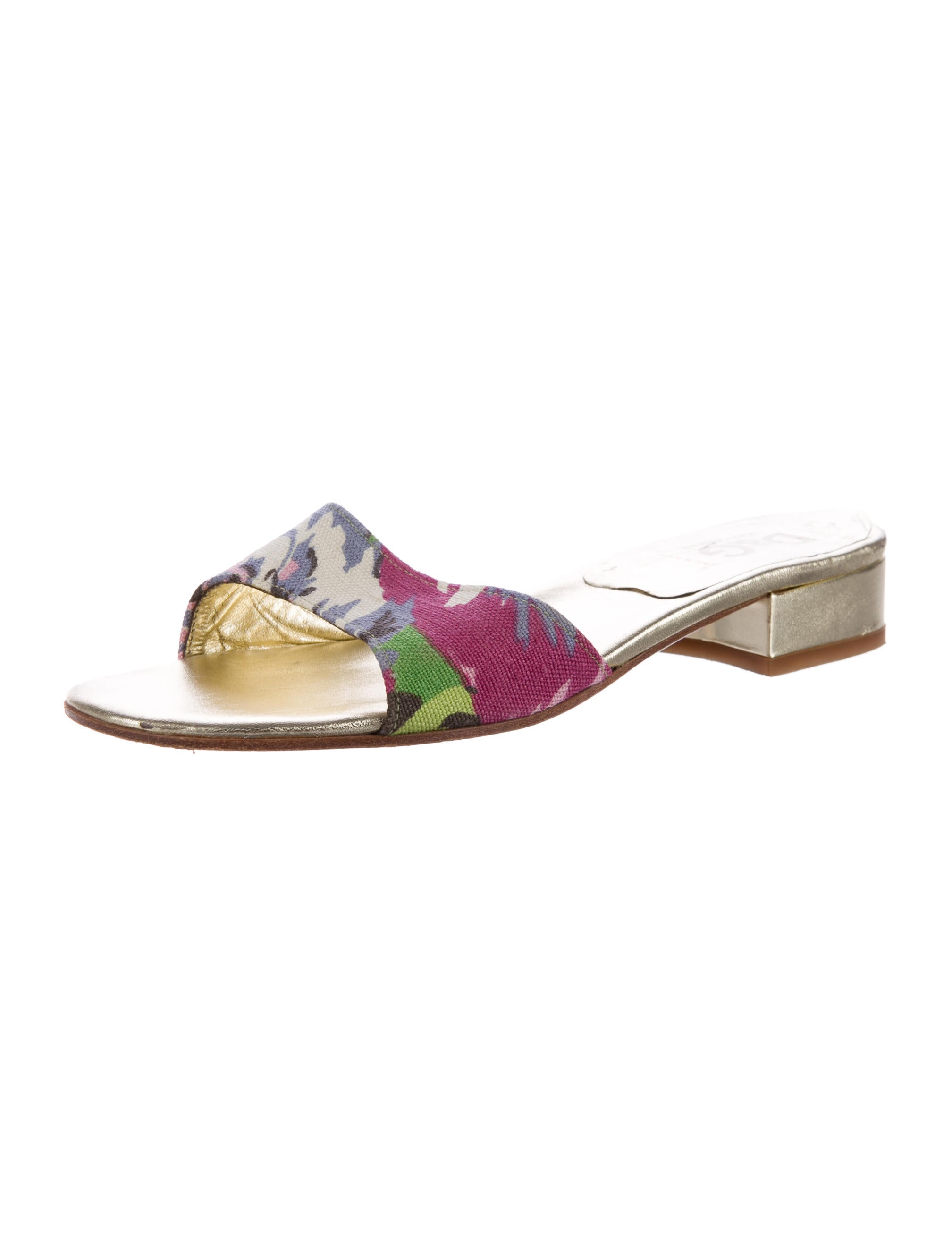 d g canvas slide sandals shoes wdg37207 the realreal