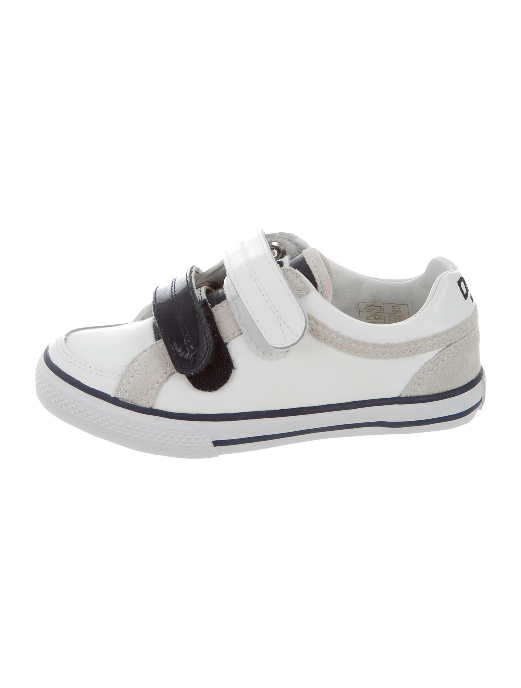 d g boys suede trimmed coated leather shoes boys