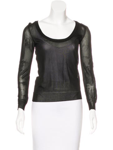 D&G Long Sleeve Knit Top None