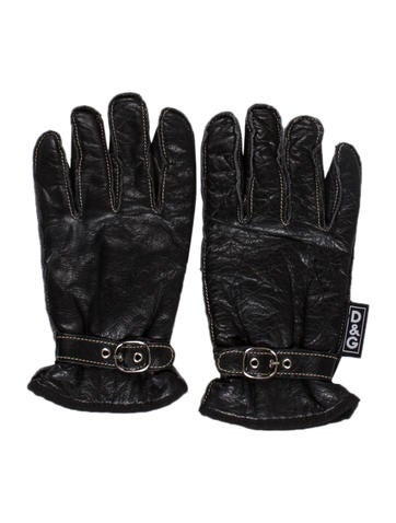 D&G Leather Driving Gloves None