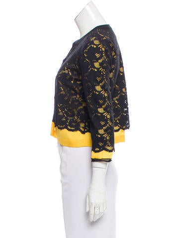 D&G Cropped Lace Cardigan - Clothing - WDG37645 | The RealReal