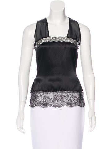 D&G Lace Embellished Sleeveless Top None