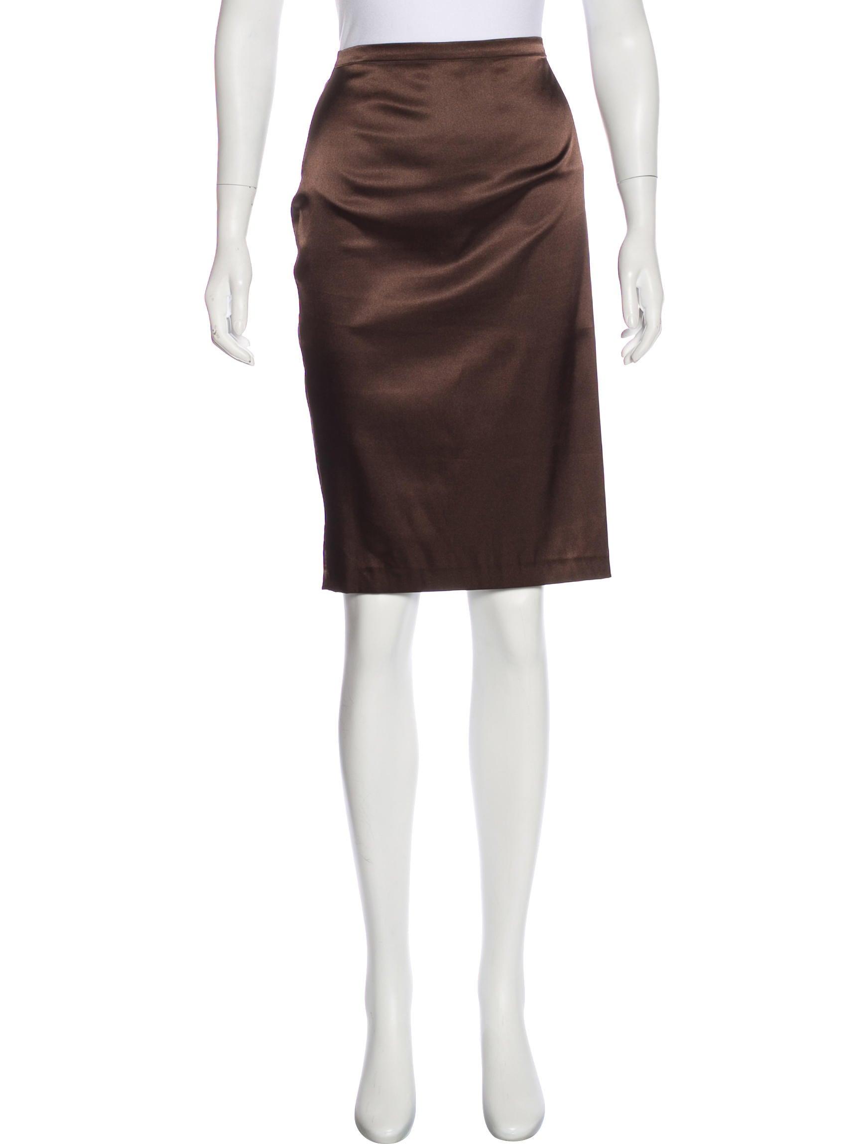 d g satin pencil skirt clothing wdg37894 the realreal