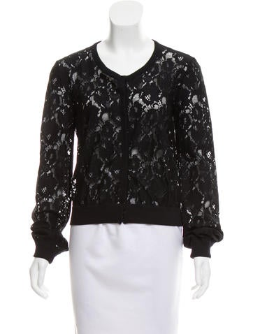D&G Scoop Neck Lace Cardigan None