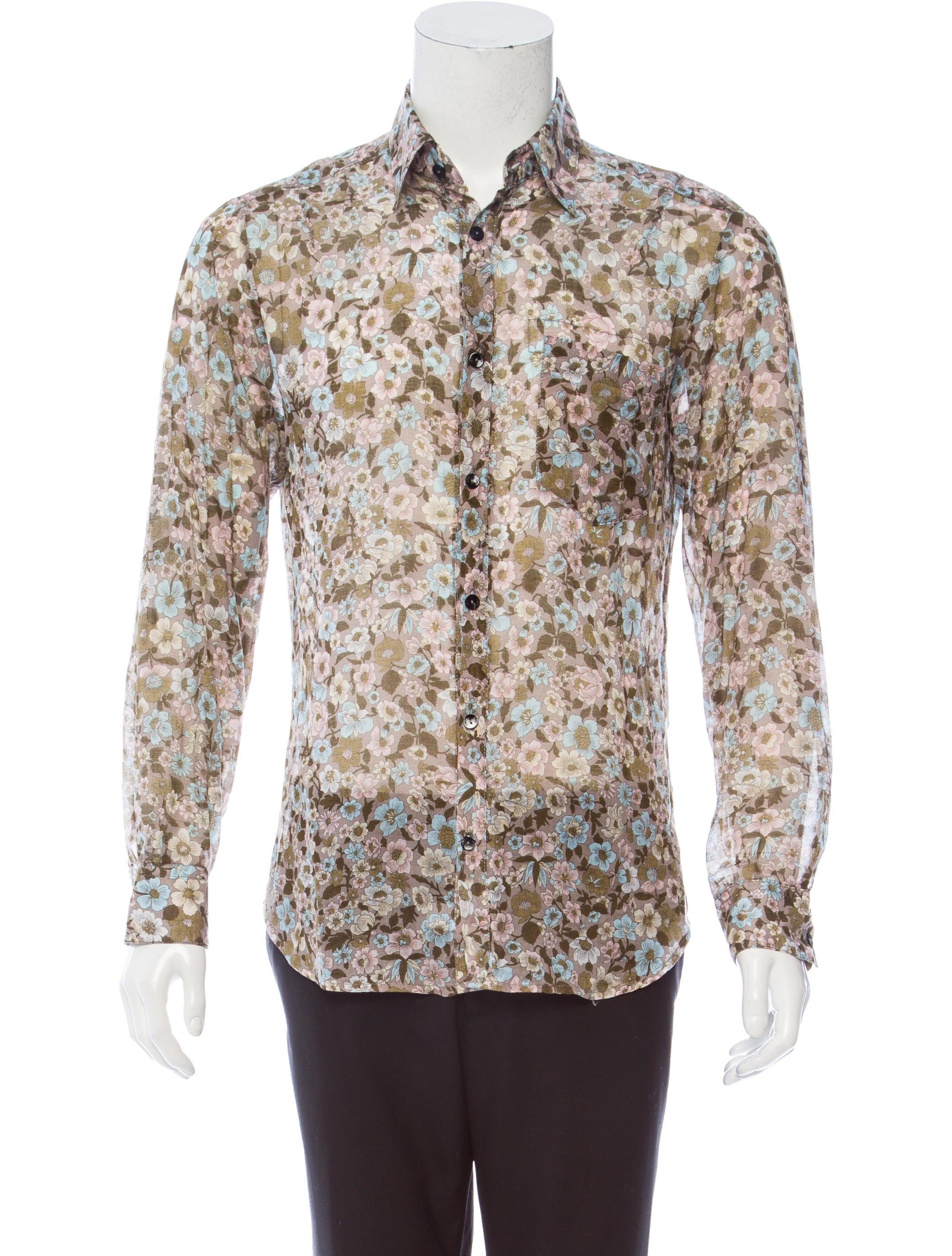 D g floral print button up shirt clothing wdg38163 for Floral print button up shirt